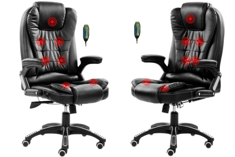 7 point Massage Recline PU leather Office Chair DFDLink